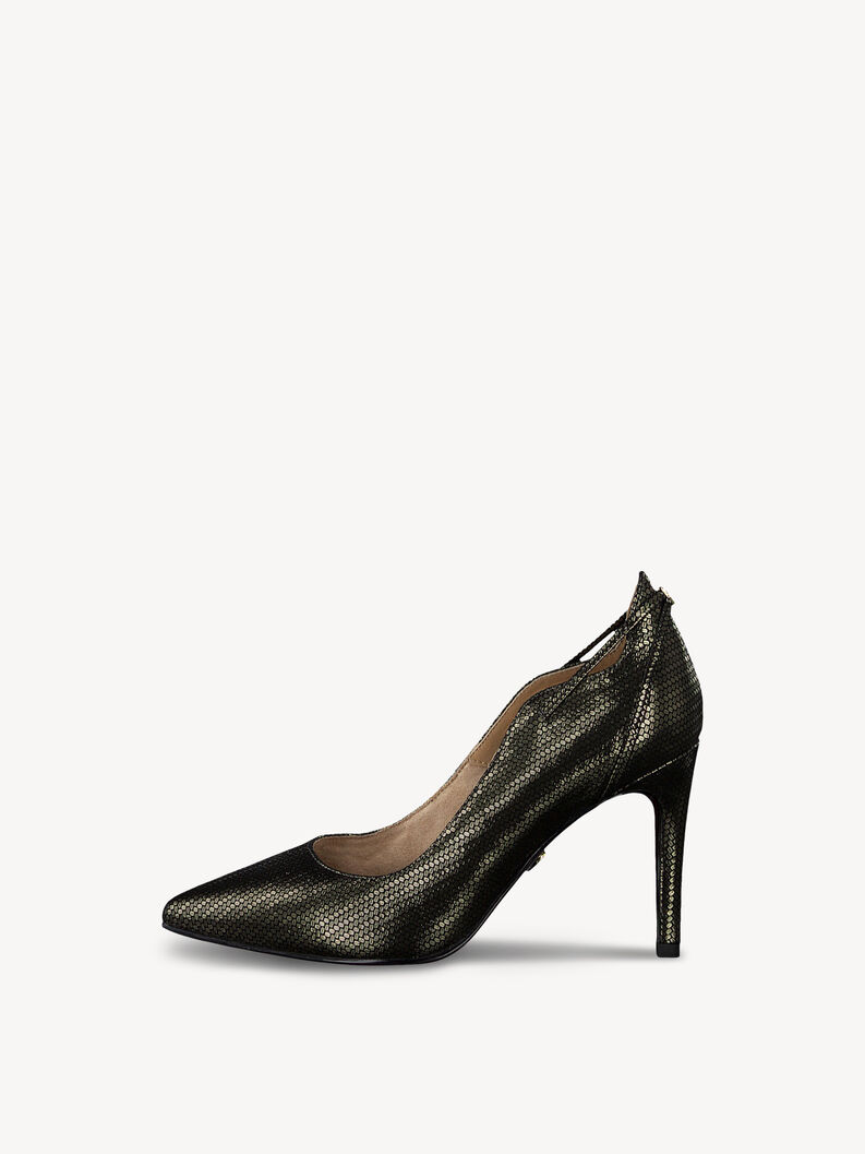 Leather Pumps - metallic, BRONCE STRUCT., hi-res