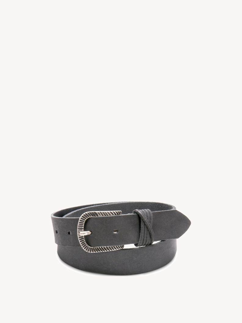 Leather Belts - black, black comb, hi-res