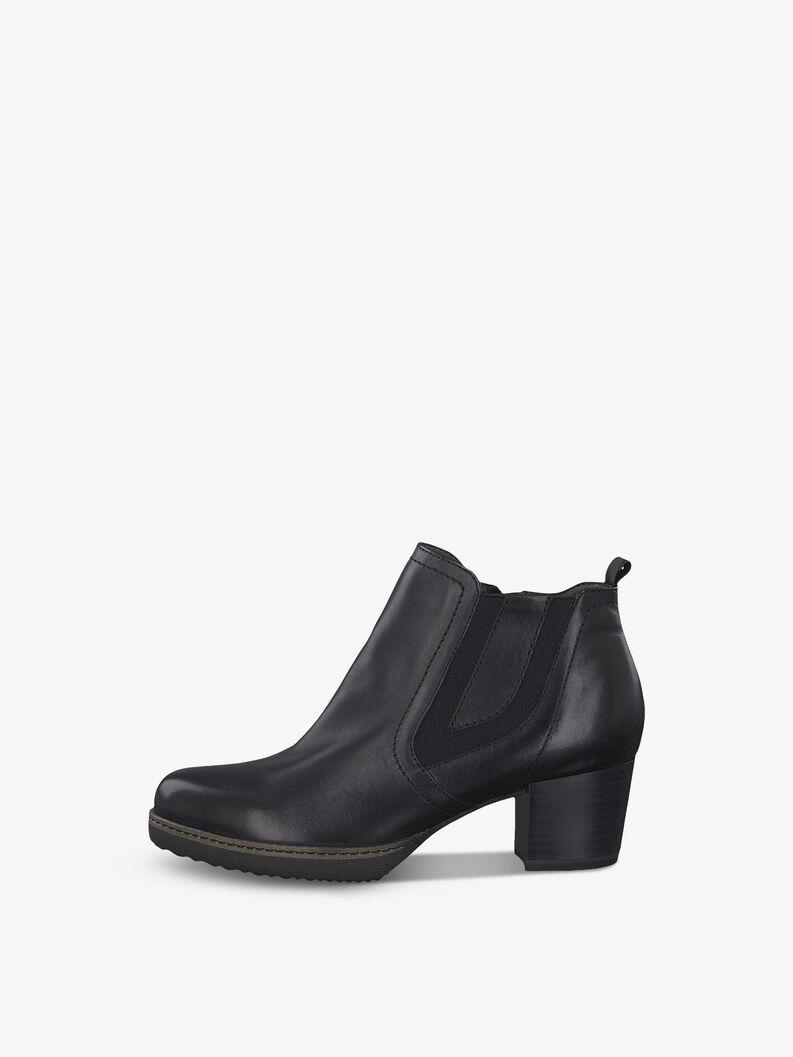 Leder Chelsea Boot - schwarz, BLACK LEATHER, hi-res