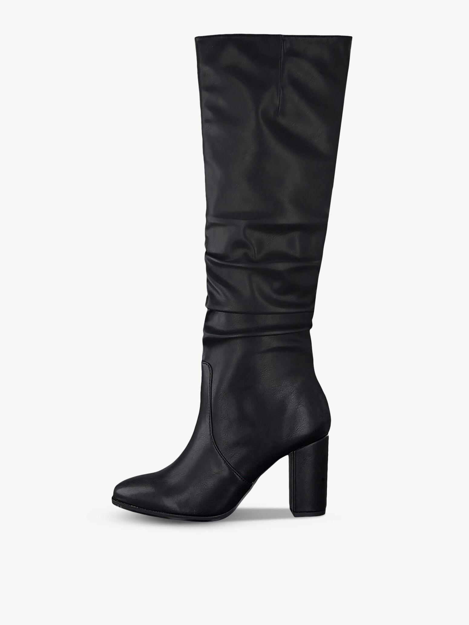 Details zu Damenschuhe Velours Overknee Stiefel Basic Boots Overknees Verstellbar