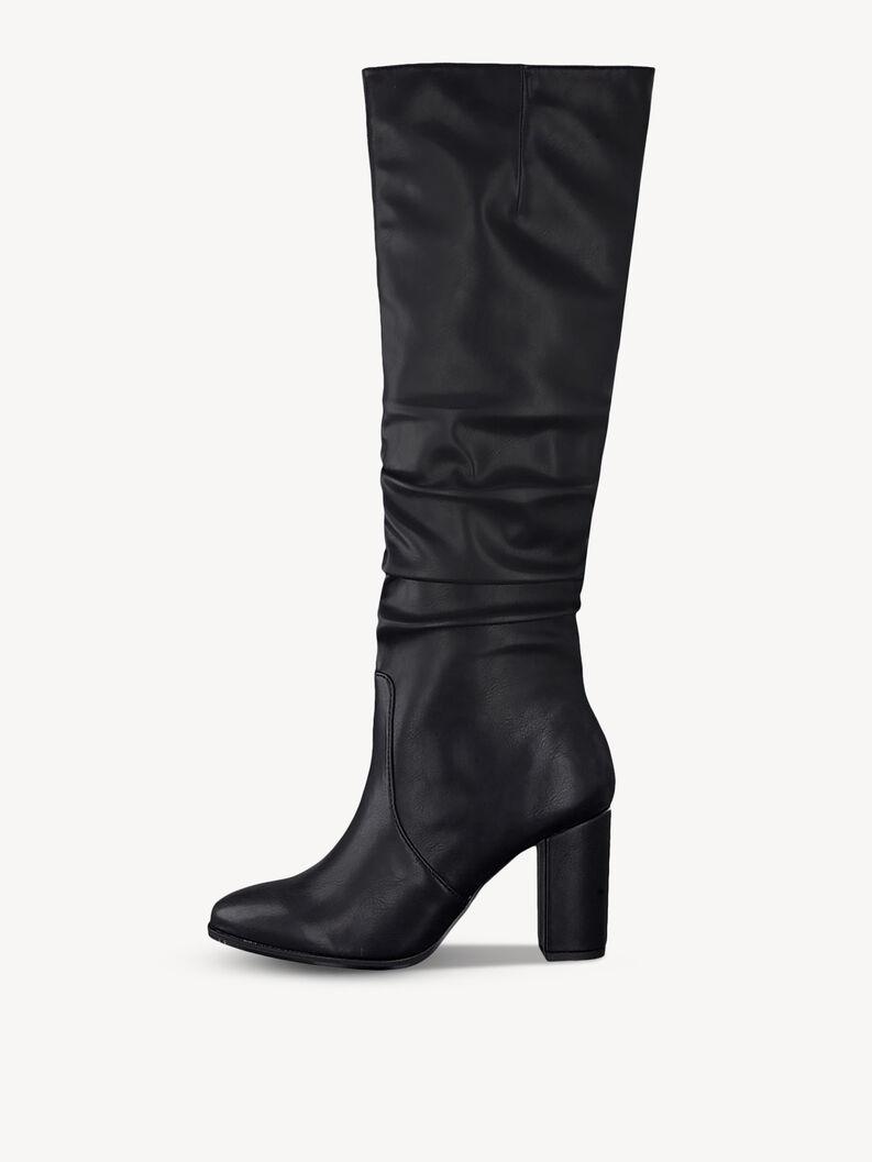 Kozačky nad kolena - černá, BLACK MATT, hi-res
