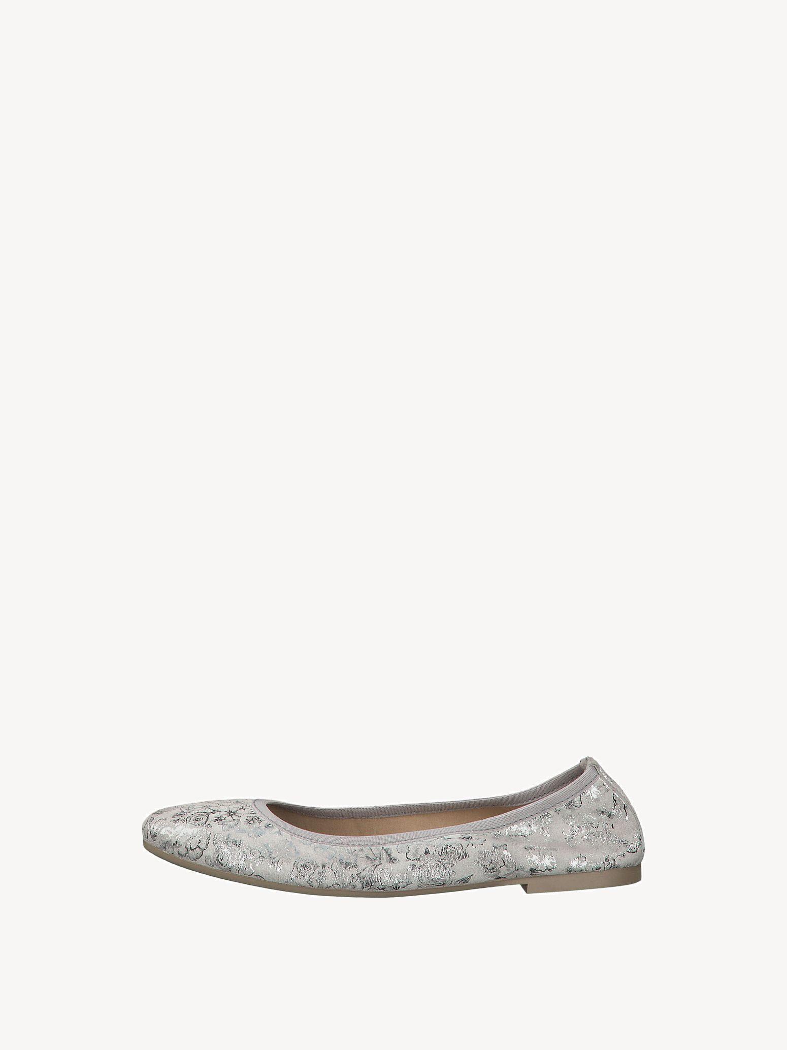 Gute Funktion Tamaris GREY Woms Ballerina Leder Damen Schuhe