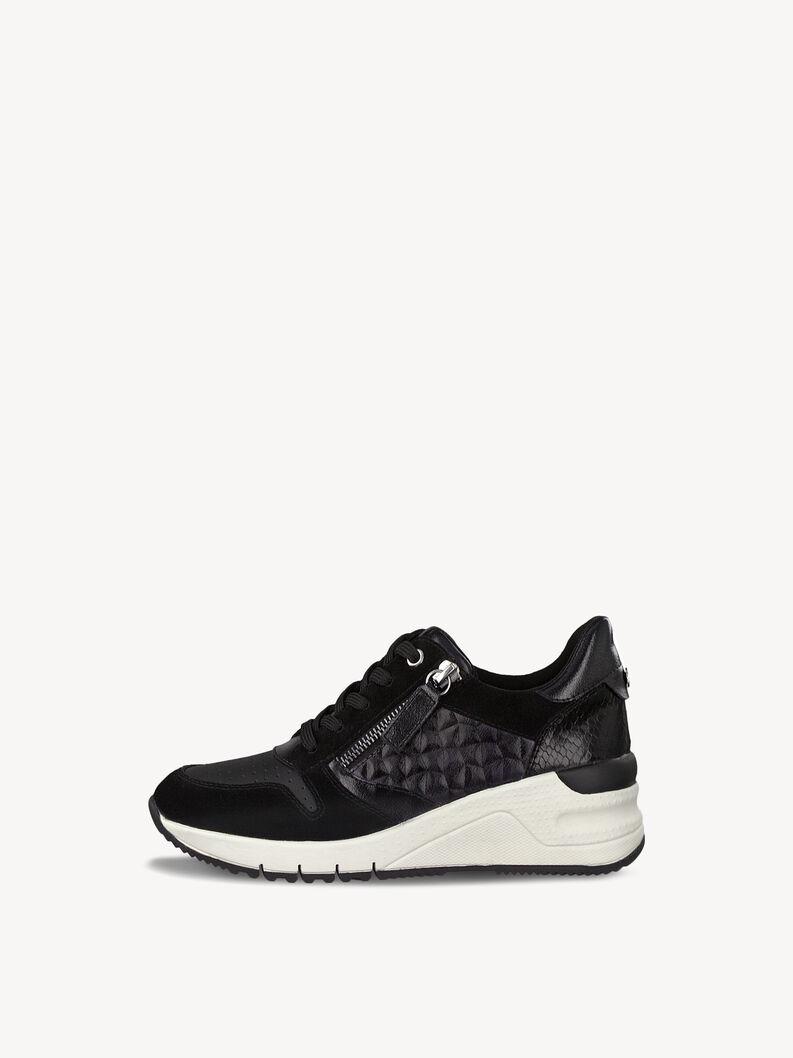 Ledersneaker - schwarz, BLACK UNI, hi-res