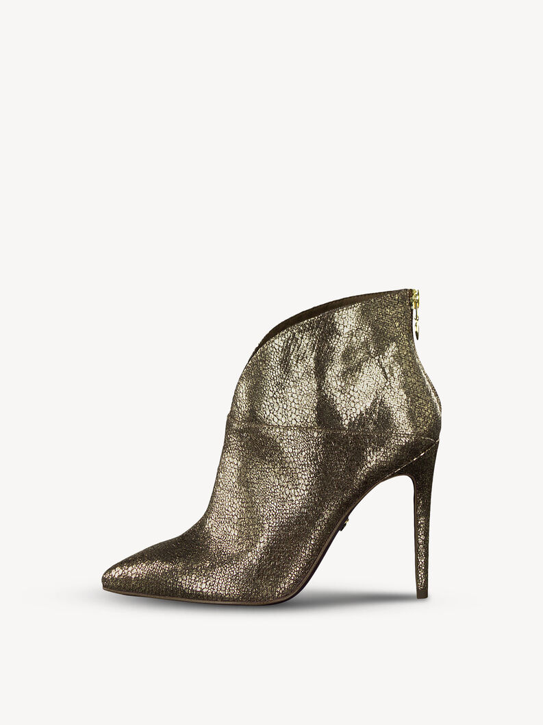 Leather Bootie - metallic, GOLD STRUCTURE, hi-res