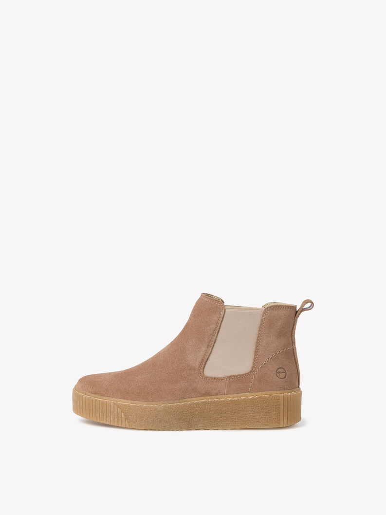 Leather Chelsea boot - brown, PEPPER, hi-res
