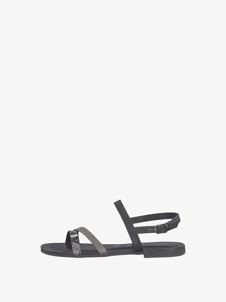 Leather Sandal - black, BLACK COMB, hi-res