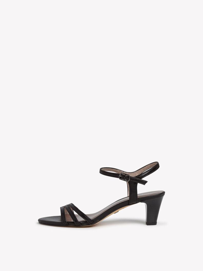 Heeled sandal - black, BLACK MATT, hi-res
