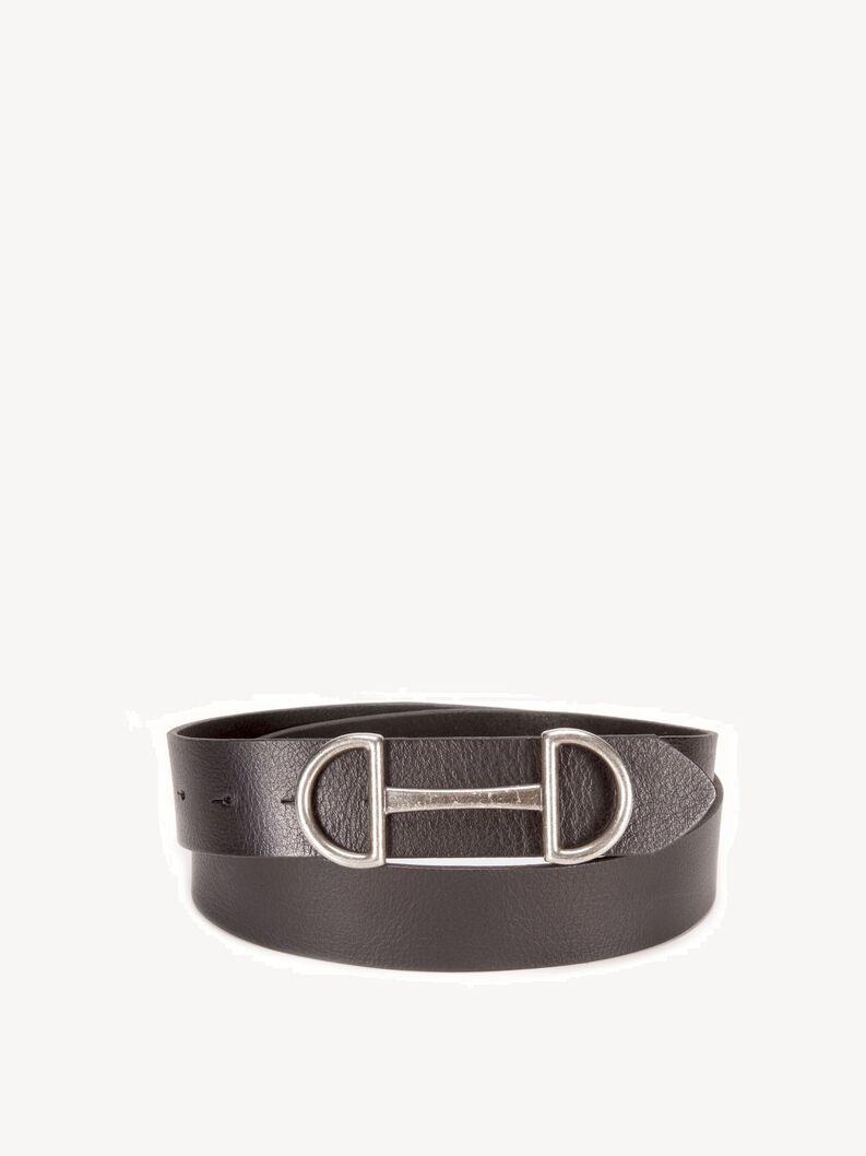 Leather Belts - black, Black, hi-res