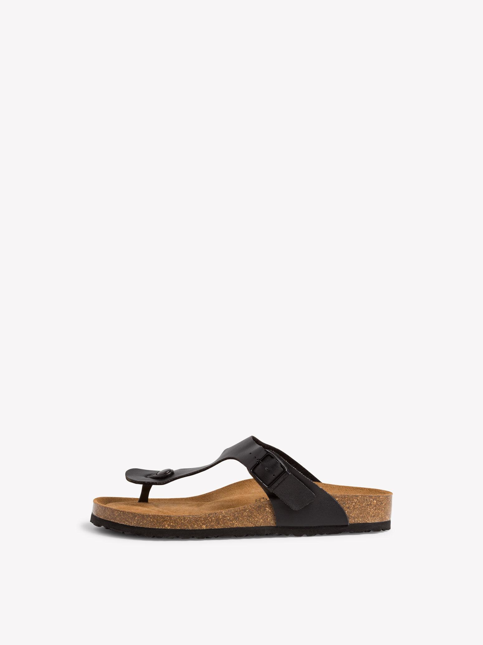 tamaris sandalen zehentrenner schwarz