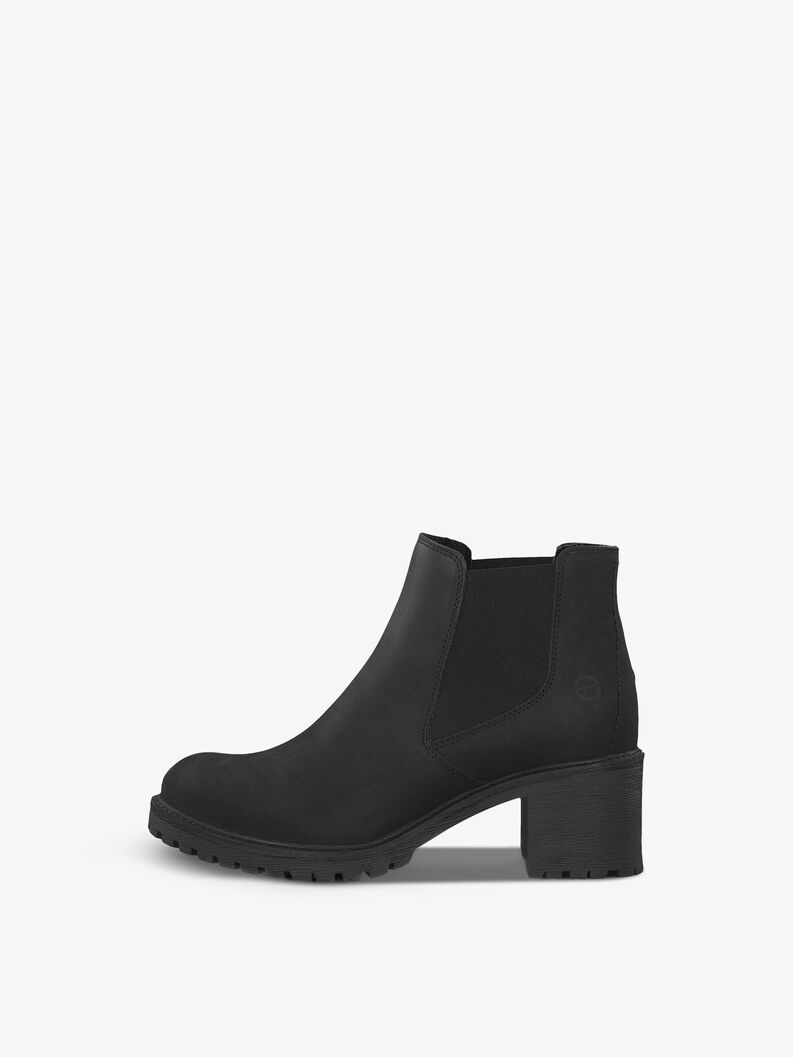 Bottine Chelsea en cuir - noir, BLACK UNI, hi-res