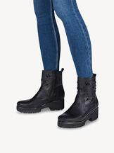 Leather Bootie - black, BLACK, hi-res