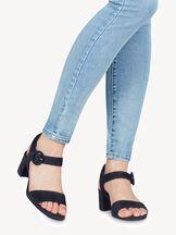 Leather Sandal - blue, NAVY, hi-res