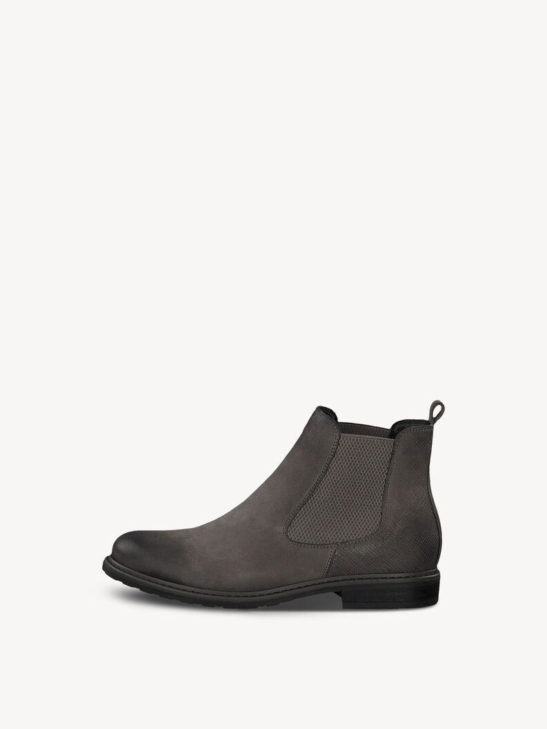 Leather Chelsea boot - grey, STONE/STRUCT., hi-res