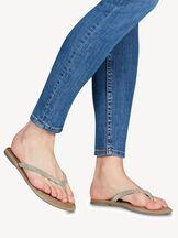 Leren Flip Flops - metallic, SILVER GLAM, hi-res