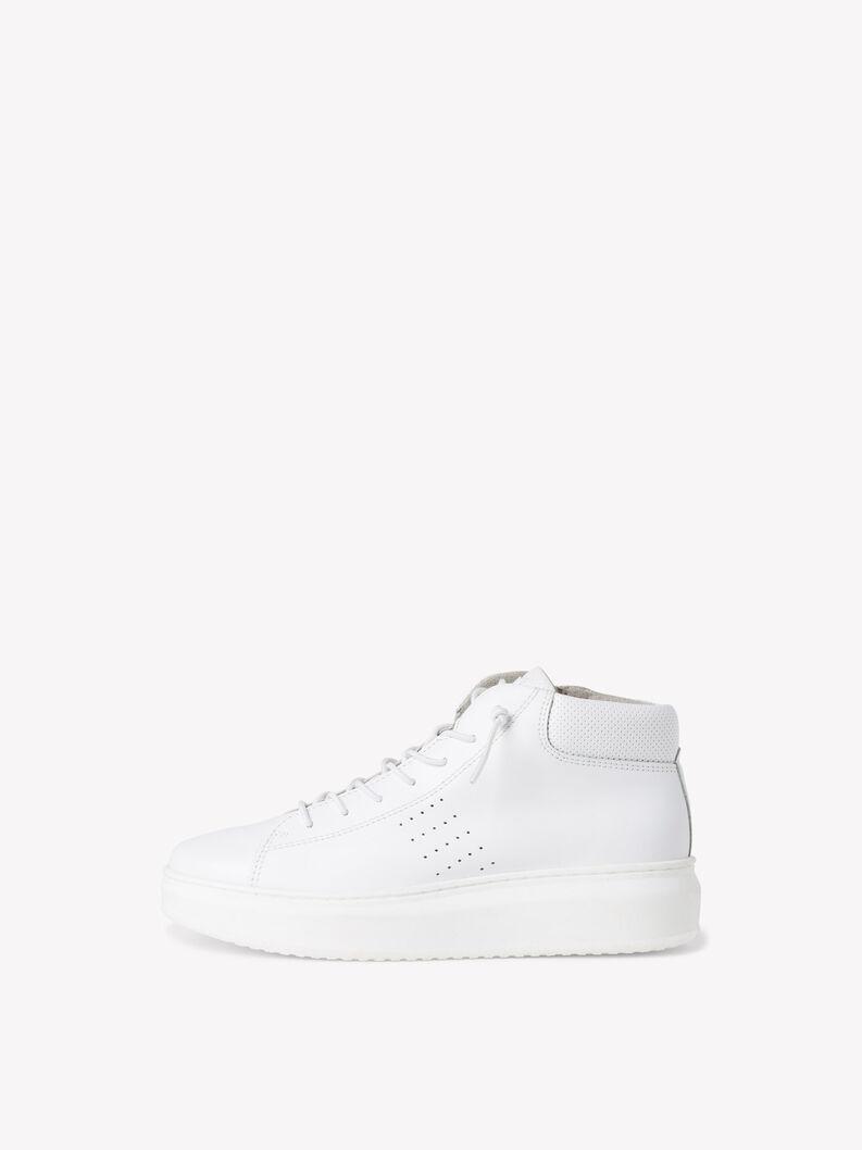Ledersneaker - weiß, WHITE, hi-res