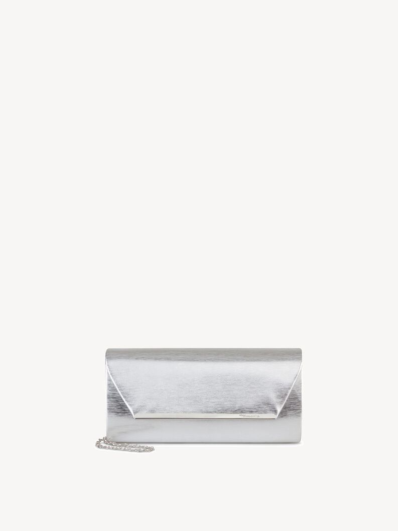 Clutch bag - grey, silver, hi-res