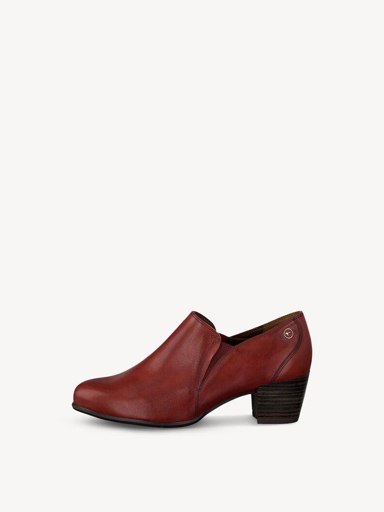 Leather Trotteur - red, SCARLET, hi-res