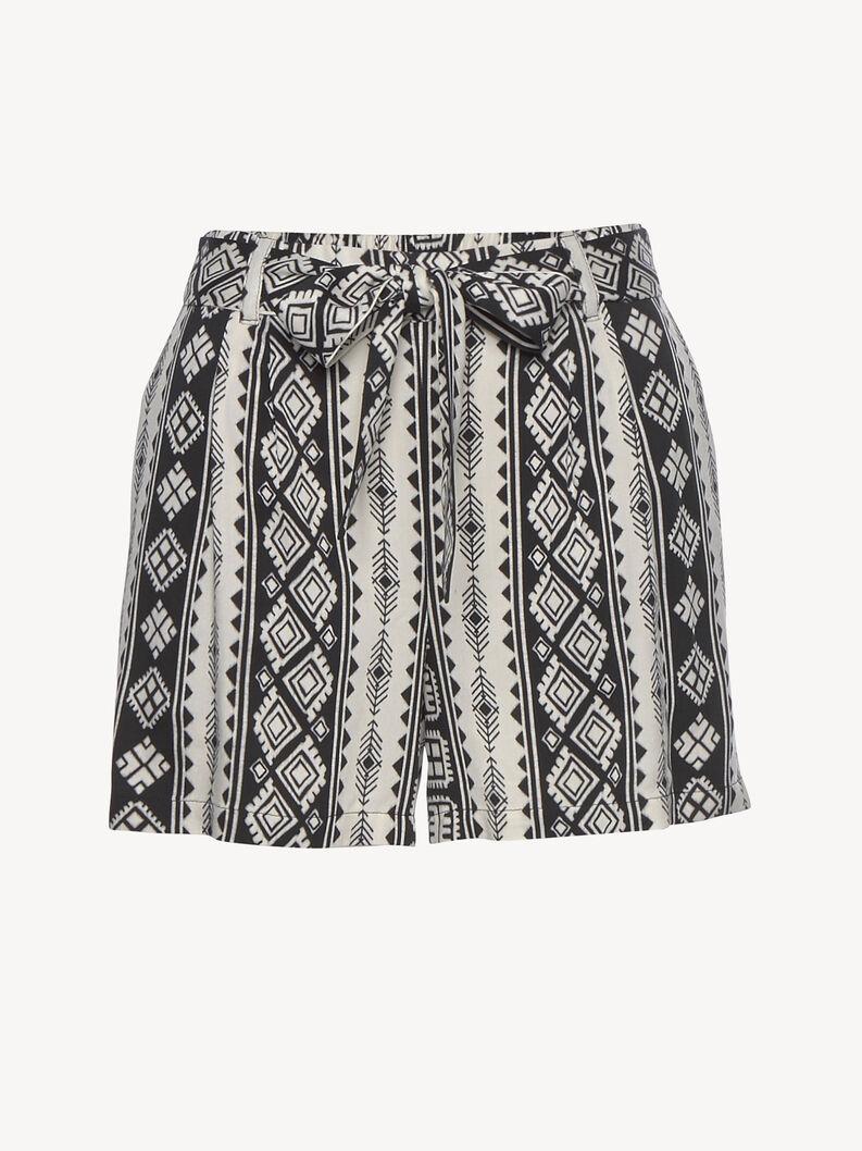 Shorts - zwart, schwarz-crem, hi-res