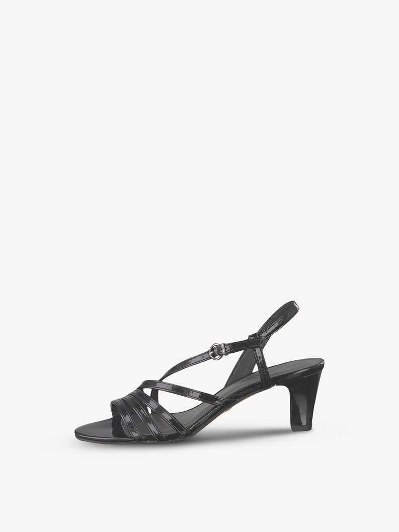 Sandal - black, BLACK PATENT, hi-res