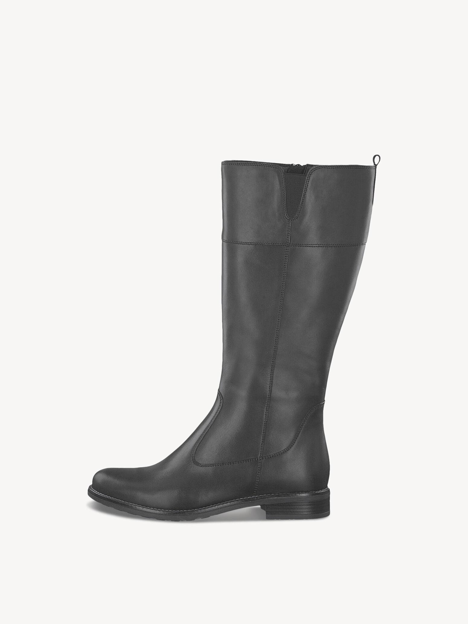 Tamaris Stiefel 35cm chwarz 40 Leder 3cm Absatz WIE NEU