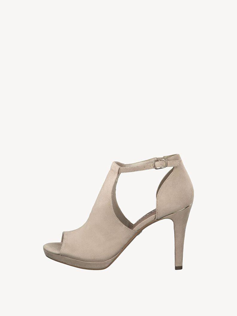 Heeled sandal - beige, beige, hi-res