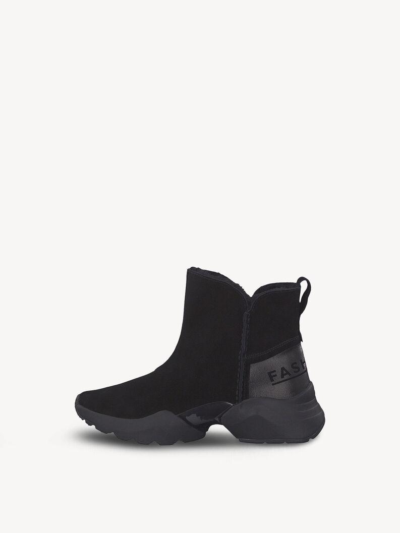 Leather Sneaker - black, BLACK UNI, hi-res