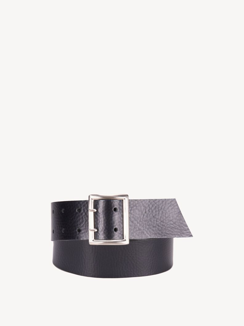 Leather Belts, black, hi-res