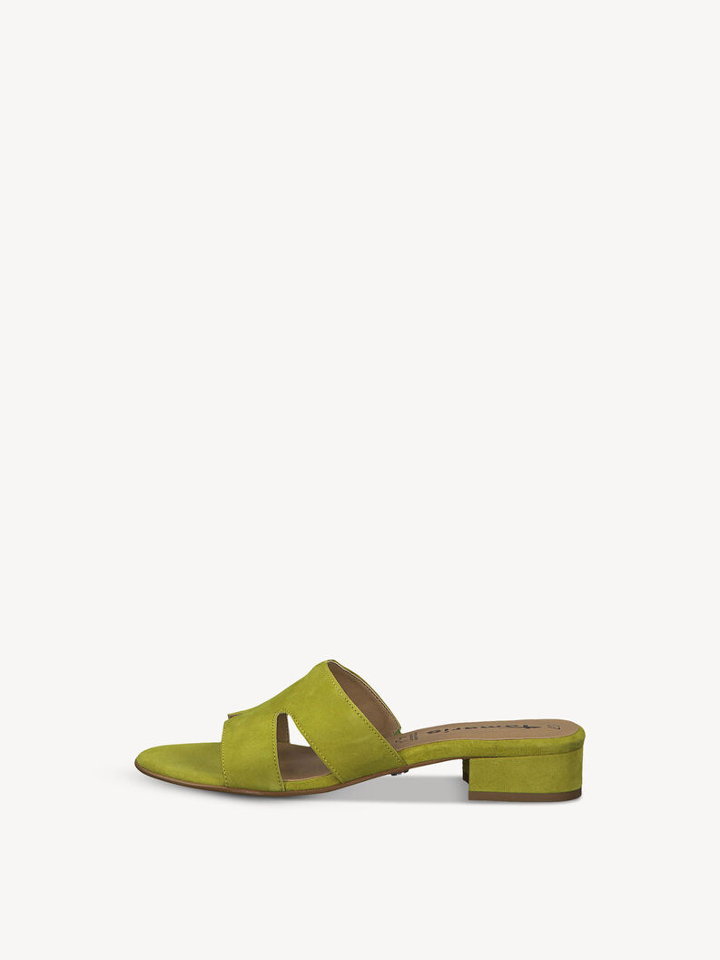 Leather Mule - green, APPLE, hi-res