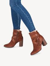 Leather Bootie - brown, RUST, hi-res