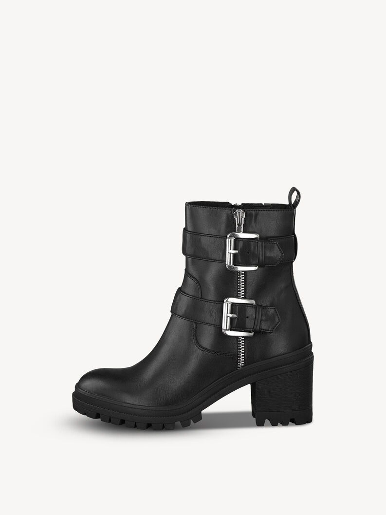 Bottine en cuir - noir, BLACK, hi-res