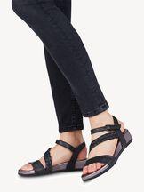 Leren Sandaletten - zwart, BLACK COMB, hi-res