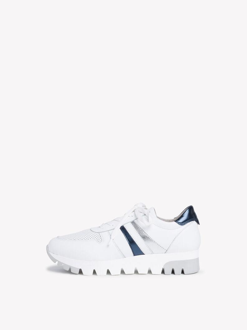 Ledersneaker - weiß, WHITE LEA/MET., hi-res