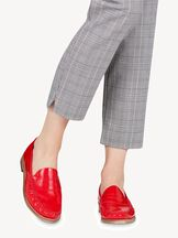 Leather Boat shoe - red, RED PAT. LEATH, hi-res