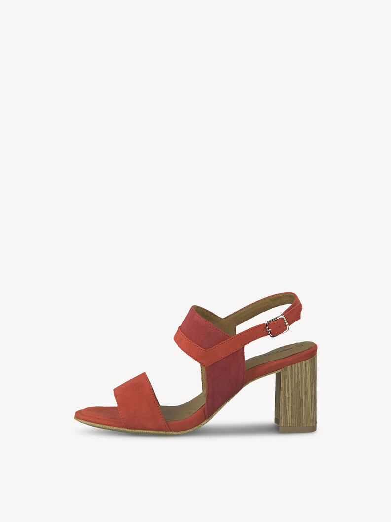 Leather Sandal - red, FIRE/CHERRY, hi-res