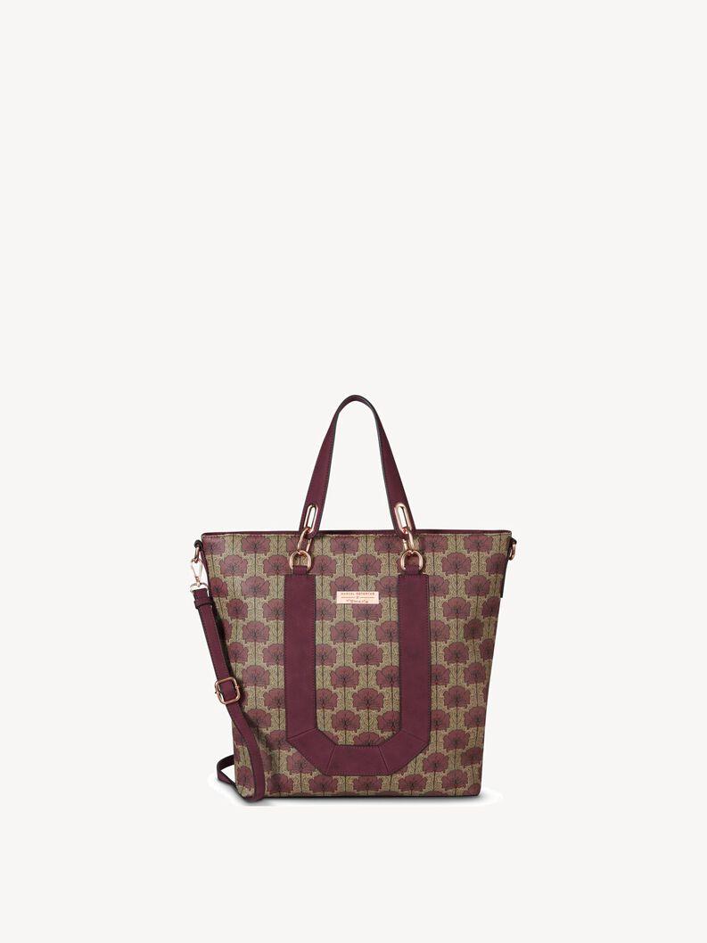 Shopping bag, bordeaux comb, hi-res