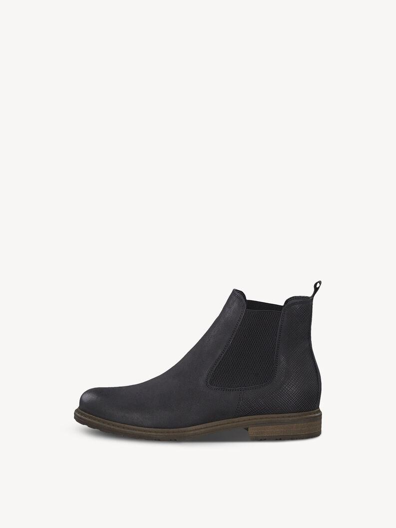 Leder Chelsea Boot - schwarz, BLACK/ STR., hi-res