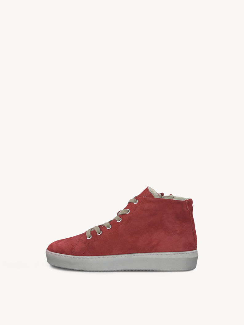 Leather Sneaker - red, LIPSTICK, hi-res
