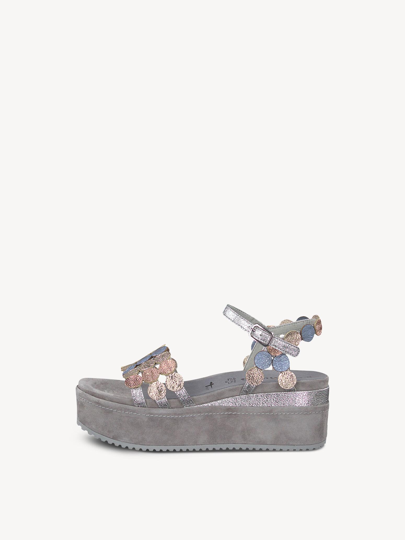 tamaris sandalen mit klettverschluss grau
