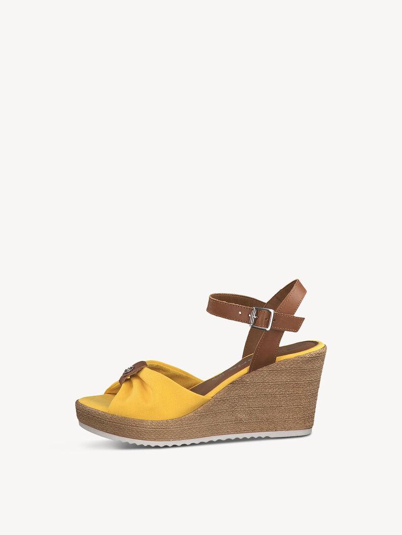 Heeled sandal - yellow, SUN/COGNAC, hi-res
