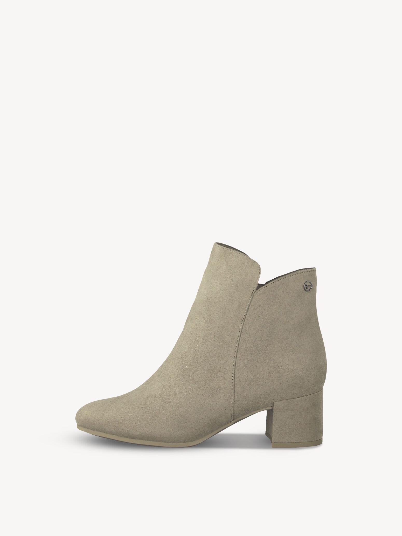 Beige En À Croûte Cuir Boots Femme De Talons wOkX8n0P