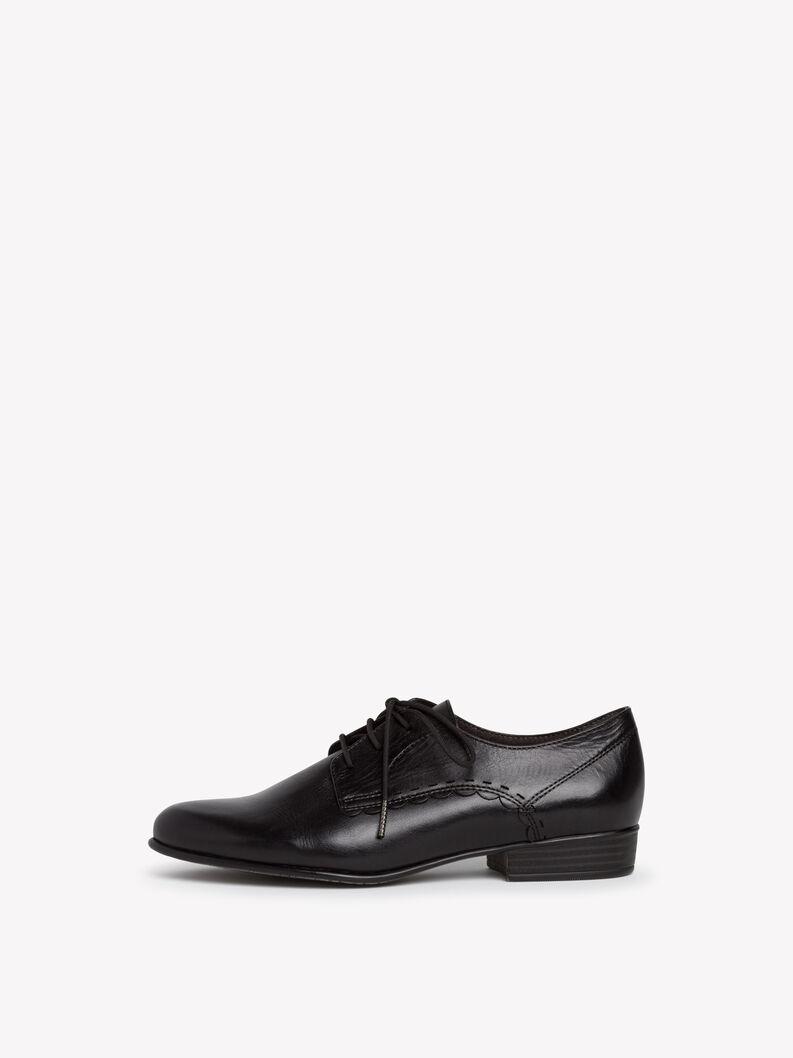 Leather Low shoes - black, BLACK LEATHER, hi-res