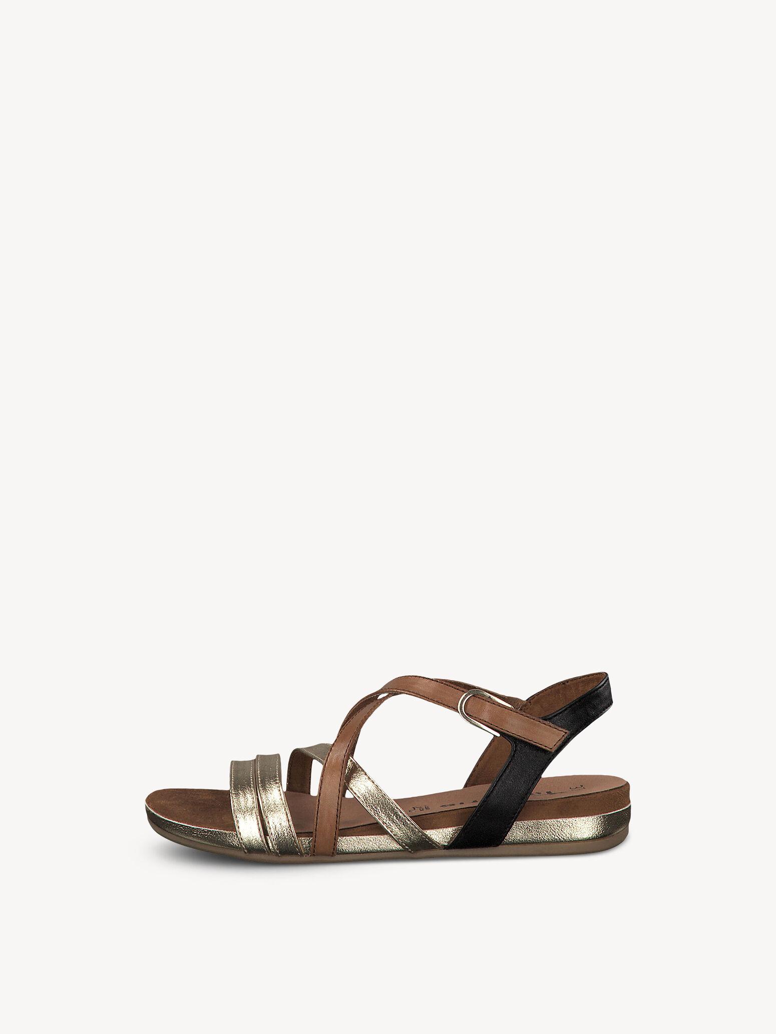 Tamaris Damen Sandaletten mit Strassbesatz rotgold 38