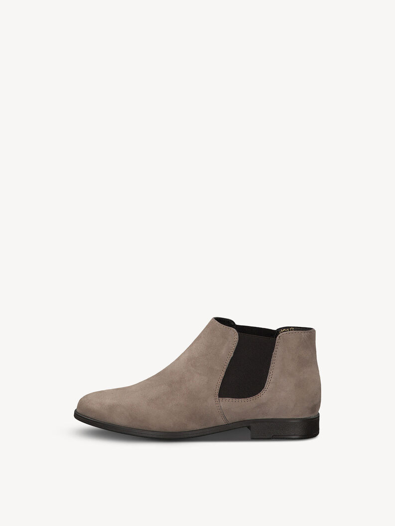 Leather Chelsea boot - brown, TAUPE SUEDE, hi-res