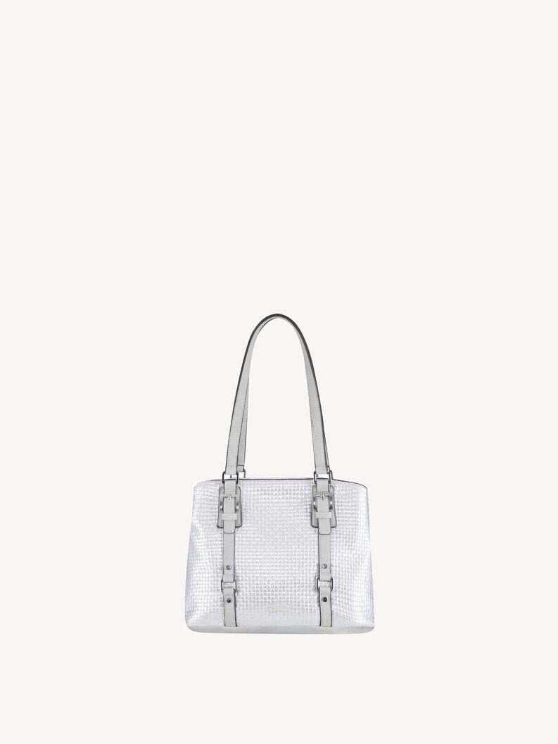 Handbag - silver, silver comb., hi-res