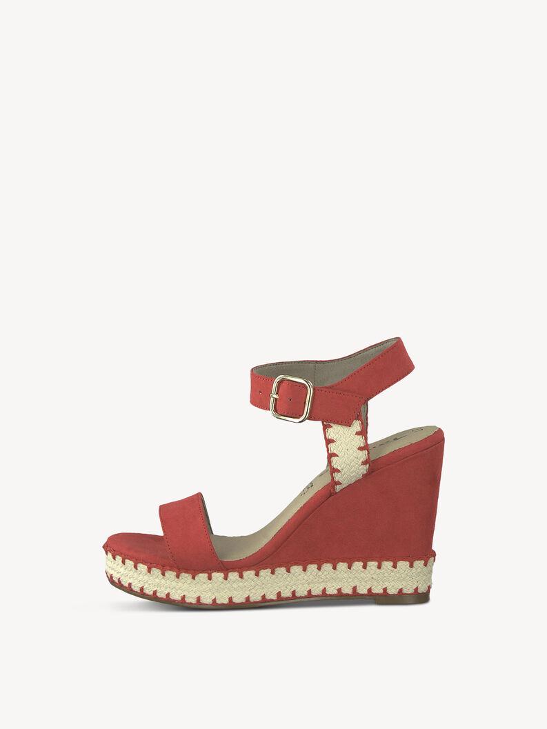 Heeled sandal - red, LIPSTICK, hi-res