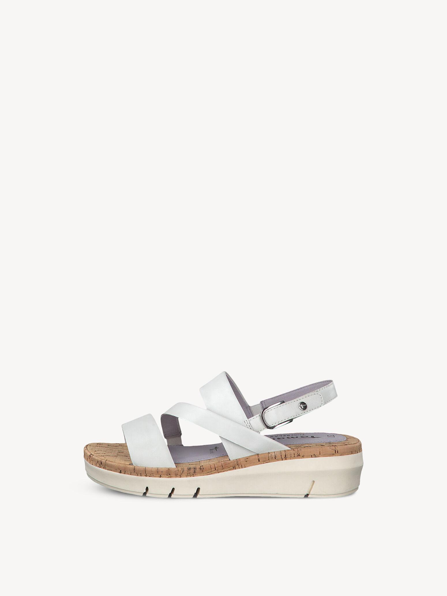 Damenschuhe Tamaris Sandaletten weiß Leder Klettverschluss