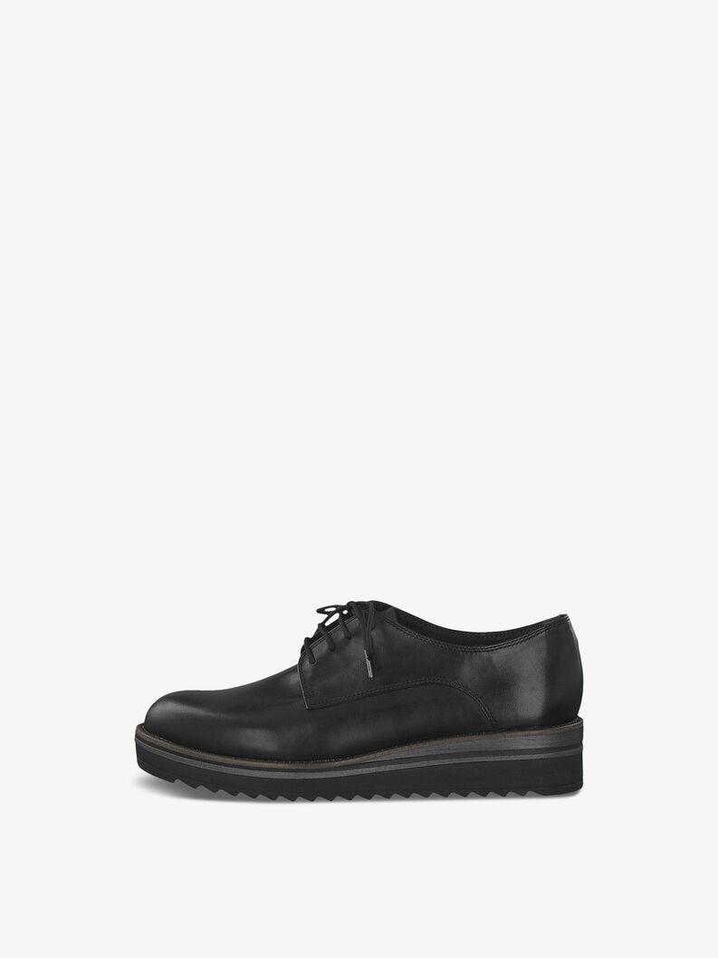 Leather Low shoes - black, BLACK, hi-res