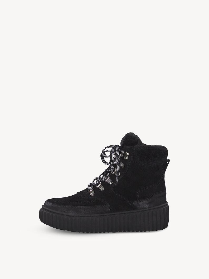 Leather Bootie - black, BLACK COMB, hi-res