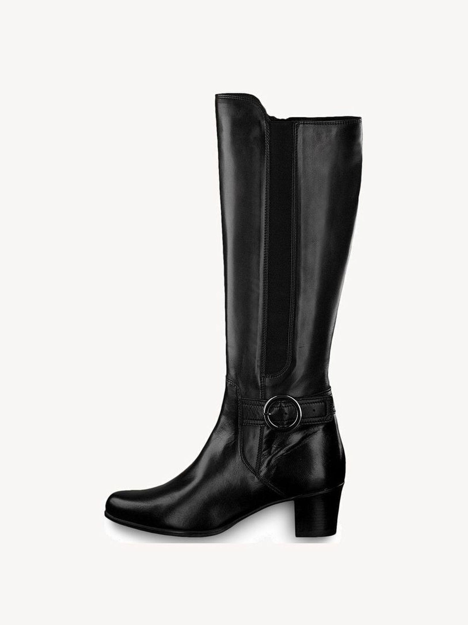 Tamaris Stiefel schwarz mit Schnalle Gr 38 wie Neu
