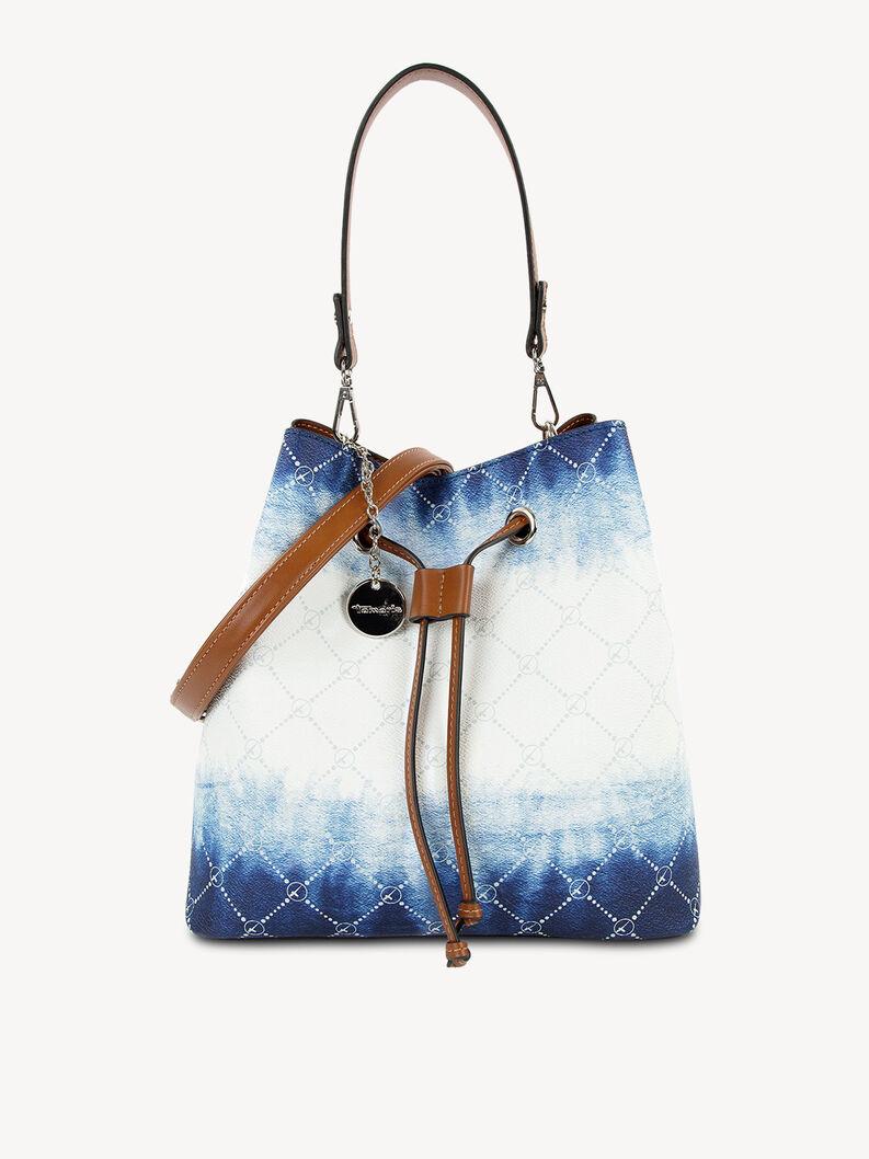 Handtasche - weiß, white/blue, hi-res